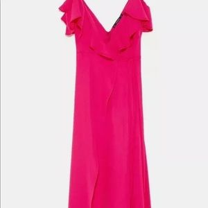 Brand new with tags ruffle pink jumpsuit. X-Large